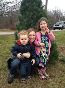 We did go and do one of our favorite traditions.  Picking out a Christmas tree to cut down.