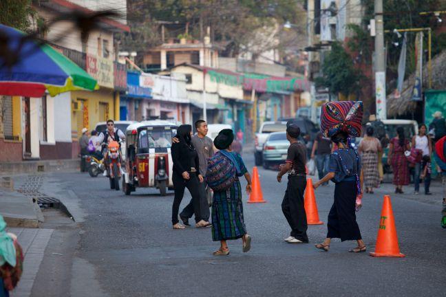 mayan women on street