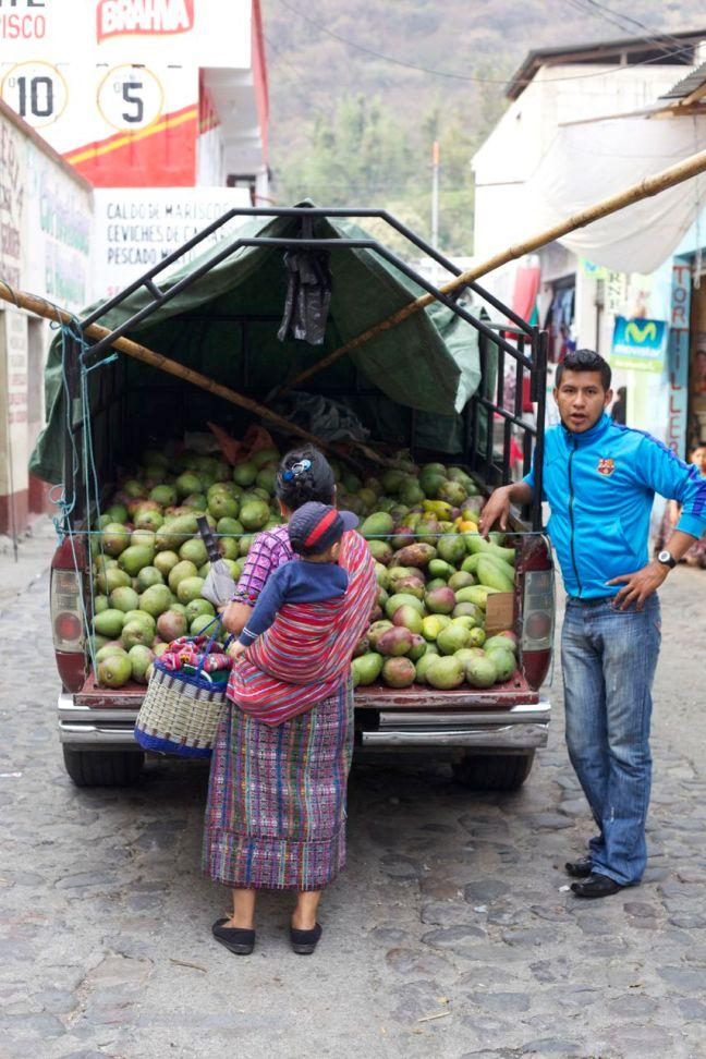 truck of mangos