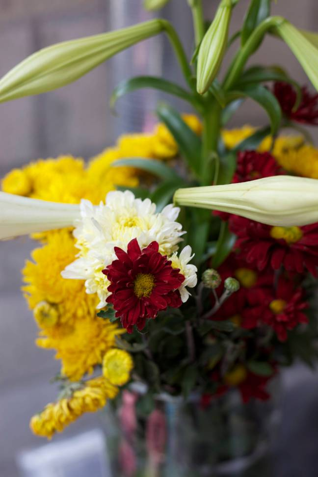 flowers at dedication