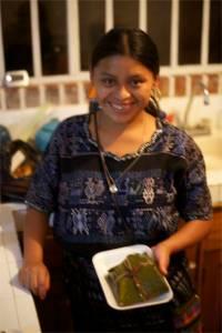 Elena with tamale