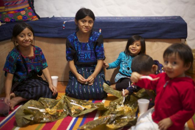 kiddos with tamales