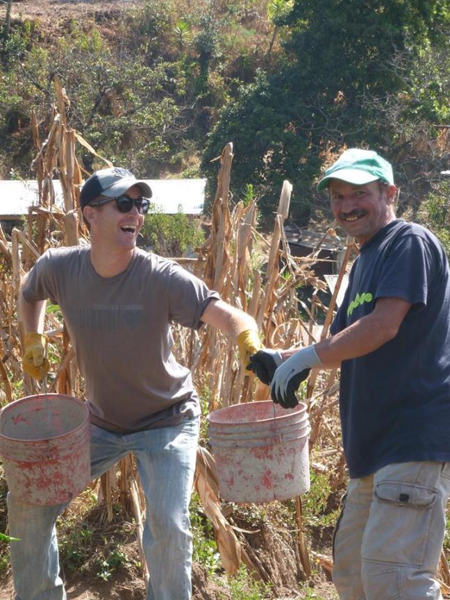 handing buckets