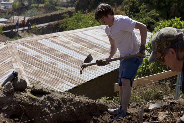 Mike shoveling