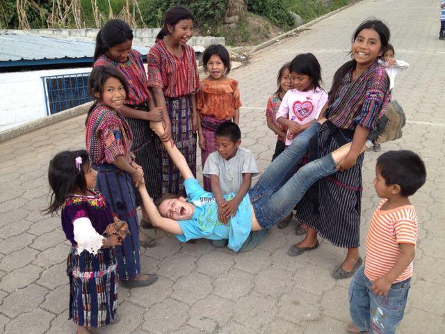 jasmine with kids