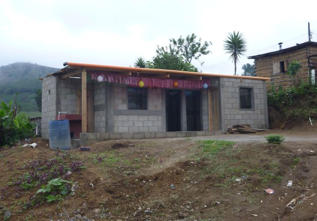 Carlos and Zoila's finished home