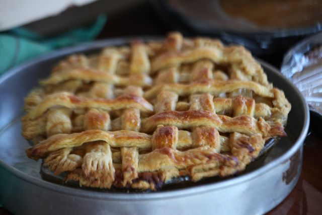 A beautiful apple pie