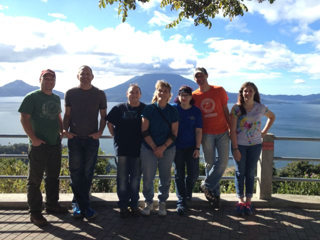 group shot at mirador