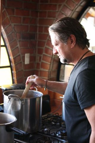 Tony cooking the gravy