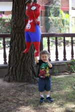 Ezra with his piñata