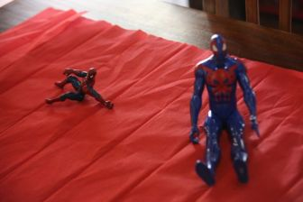 Spiderman figures for the tables