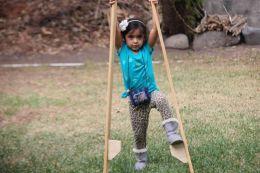 Evelie on the stilts