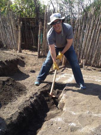 Dan digging a footer