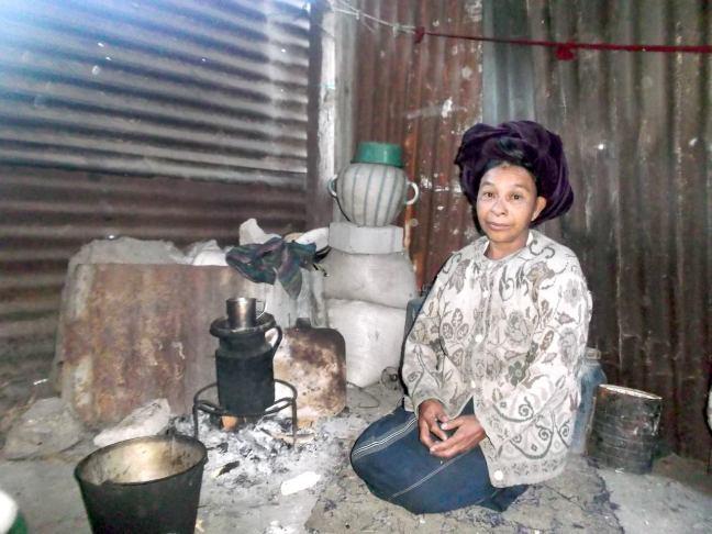 Juana in kitchen