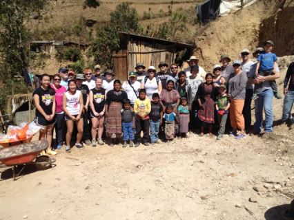 Team Gina from California helped us start work on Silveria's house along with a group from China