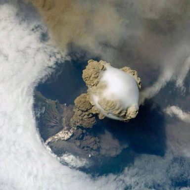View from the sky of Volcan, Fuego