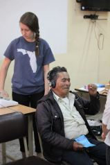 Administering the hearing test