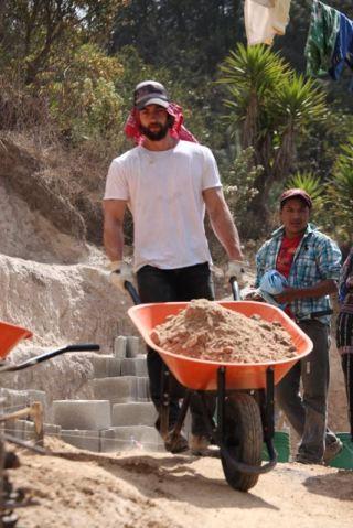 Sam hauling dirt