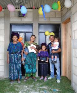 Juana now has a house big enough for her daughter and family to move in with her