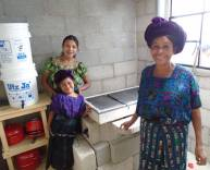 Juana with her new stove