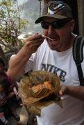 Phil enjoying his tamale
