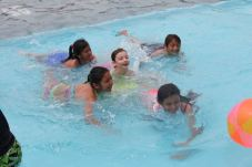 Abra loving swimming with her friends